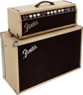 Musical Instruments:Amplifiers, PA, & Effects, 1961 Fender Tremolox Blonde Guitar Amplifier Head and Cabinet, Serial # 02012.... (Total: 2 Items)