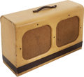 Musical Instruments:Amplifiers, PA, & Effects, Circa 1952 Silvertone Model 1346 Twin 12 Tan Guitar Amplifier, Serial # 185801....