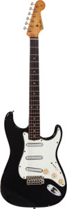 Musical Instruments:Electric Guitars, 1959 Fender Stratocaster Black Solid Body Electric Guitar, Serial #45430....