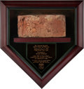 Baseball Collectibles:Others, 1939 Baseball Hall of Fame Brick from The Brooks Robinson Collection....