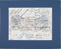 Baseball Collectibles:Others, 1983 Multi Signed Hall of Fame Print....