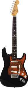 Musical Instruments:Electric Guitars, 1989 Fender Stratocaster Black Solid Body Electric Guitar, Serial #E963972....
