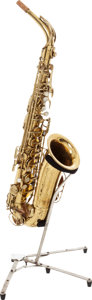 Musical Instruments:Horns & Wind Instruments, 1949 Martin Brass Alto Saxophone, Serial # 163783....
