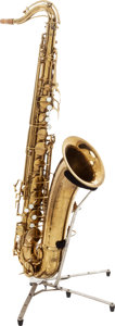 Musical Instruments:Horns & Wind Instruments, 1950 C.G. Conn 10M Naked Lady Brass Tenor Saxophone....