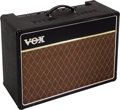 Musical Instruments:Amplifiers, PA, & Effects, Circa 1997 Vox AC-15 Black Guitar Amplifier, Serial # 971779824....