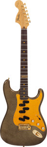 Musical Instruments:Electric Guitars, 1997 Fender John Jorgenson Hellcaster Gold Sparkle Solid BodyElectric Guitar, Serial # 0061....