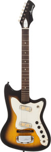 Musical Instruments:Electric Guitars, Circa 1968 Harmony Bobkat Sunburst Solid Body Electric Guitar....