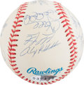 Baseball Collectibles:Balls, 1998 New York Yankees Team Signed Baseball....