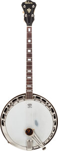 Musical Instruments:Banjos, Mandolins, & Ukes, 1940 Gibson TB-7 Top Tension Natural Tenor Banjo, Serial # 1871-1....