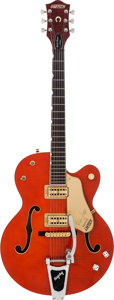 Musical Instruments:Electric Guitars, 1998 Gretsch Brian Setzer Nashville Western Orange Semi-Hollow Body Electric Guitar, Serial # 986120-1018....