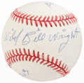 Baseball Collectibles:Balls, Wild Bill Wright Single Signed Baseball....
