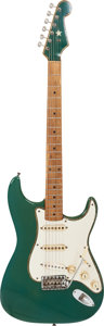 Musical Instruments:Electric Guitars, Circa 1959 Fender Stratocaster Green Solid Body Electric Guitar, Serial # 35998....