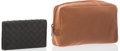 Luxury Accessories:Accessories, Bottega Veneta Black Intrecciato Leather Card Holder & BrownLeather Cosmetic Bag. Very Good to Excellent Condition.C... (Total: 2 Items)
