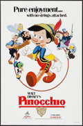 "Movie Posters:Animation, Pinocchio & Other Lot (Buena Vista, R-1984). One Sheets (2)(27"" X 41""). Animation.. ... (Total: 2 Items)"
