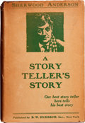 Books:First Editions, Sherwood Anderson. A Story Teller's Story. New York: B. W.Huebsch, Inc., 1924....