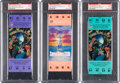 Football Collectibles:Tickets, 1989 and 1990 Super Bowl XXIII and XXIV (Teal and Purple) PSA Mint 9 Full Tickets (49ers Victories)....