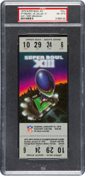Football Collectibles:Tickets, 1979 Super Bowl XIII Full Ticket PSA NM-MT 8....