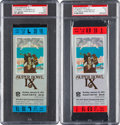 Football Collectibles:Tickets, 1975 Super Bowl IX Full Tickets Lot of 2 - Blue and Red Variations. ...