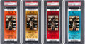Football Collectibles:Tickets, 2010 Super Bowl XLIV PSA Mint 9 Full Tickets - Orange, Gold, Red and Blue Variations. ...
