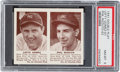 Baseball Cards:Singles (1940-1949), 1941 R330 Double Play Gomez/Rizzuto #61/62 PSA NM-MT 8 - NoneHigher....