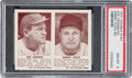Baseball Cards:Singles (1940-1949), 1941 R330 Double Play Cronin/Foxx #59/60 PSA NM-MT 8 - None Higher....