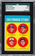 Baseball Cards:Singles (1960-1969), 1963 Topps 1963 Rookie Stars - Pete Rose #537 SGC 80 EX/NM 6....