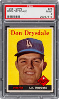 Baseball Cards:Singles (1950-1959), 1958 Topps Don Drysdale #25 PSA Mint 9 - Pop Three, None Higher!...
