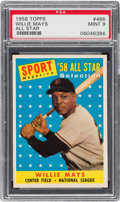Baseball Cards:Singles (1950-1959), 1958 Topps Willie Mays All Star #486 PSA Mint 9 - None Higher!...