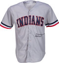 Baseball Collectibles:Uniforms, Early 1980's Stan Coveleski Signed Cleveland Indians Jersey....