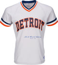 Baseball Collectibles:Uniforms, 1980's Charlie Gehringer Signed Detroit Tigers Jersey with FullName Signature. ...
