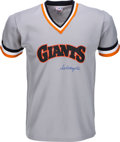 Baseball Collectibles:Uniforms, 1980's Sal Maglie Signed San Francisco Giants Jersey....