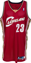 Basketball Collectibles:Uniforms, 2003-04 LeBron James Game Worn Cleveland Cavaliers Jersey. ...