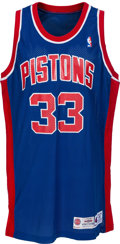 Basketball Collectibles:Uniforms, 1994-95 Grant Hill Game Worn Detroit Pistons Jersey. ...