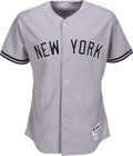 Baseball Collectibles:Uniforms, 2011 Robinson Cano Game Worn New York Yankees Jersey. ...