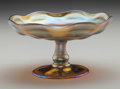 Art Glass:Tiffany , Tiffany Studios Gold Favrile Glass Footed Bowl. Circa 1900.Engraved L.C.T., 2115. Ht. 3-1/4 x Di. 6 in....