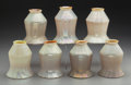 Art Glass:Steuben, Seven Steuben-Style Iridescent Glass Lamp Shades. Early 20thcentury. Ht. 5-1/2 in.... (Total: 7 Items)