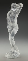 Art Glass:Lalique, Lalique Clear and Frosted Glass Oceanide Nude. Circa 2000.Engraved Lalique France, 324/999. Ht. 17-1/2 in....