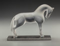 Art Glass:Lalique, Lalique Frosted Glass Siglavy on Base. Late 20th century.Ht. 5-3/4 in.. ...