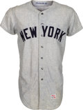 Baseball Collectibles:Uniforms, 1969 Bobby Mitchell Game Worn New York Yankees Jersey....