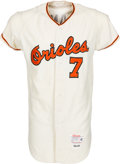Baseball Collectibles:Uniforms, 1966 Mark Belanger Game Worn Baltimore Orioles Rookie-Era Jersey with Pants, MEARS A8....
