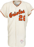 Baseball Collectibles:Uniforms, 1966 Boog Powell Game Worn Baltimore Orioles Jersey & Pants, MEARS A9.5....