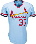 Baseball Collectibles:Uniforms, 1977 Keith Hernandez Game Worn St. Louis Cardinals Jersey. ...