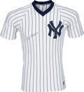 Baseball Collectibles:Uniforms, 1980's Red Ruffing Signed New York Yankees Jersey....