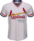 "Baseball Collectibles:Uniforms, Circa 1980 Paul ""Daffy"" Dean Signed St. Louis Cardinals Jersey...."