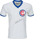 Baseball Collectibles:Uniforms, Circa 1980 Charlie Grimm Signed Chicago Cubs Jersey. ...