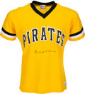 Baseball Collectibles:Uniforms, Early 1980's Burleigh Grimes Signed Pittsburgh Pirates Jersey....