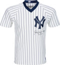 Baseball Collectibles:Uniforms, 1980's Johnny Mize Signed New York Yankees Jersey. ...