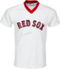 Baseball Collectibles:Uniforms, 1980's Red Ruffing Signed Boston Red Sox Jersey....