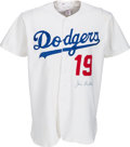 "Baseball Collectibles:Uniforms, Circa 1978 Jim ""Junior"" Gilliam Signed Los Angeles Dodgers Jersey...."