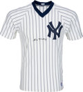 Baseball Collectibles:Uniforms, 1980's Bill Dickey Signed New York Yankees Jersey. ...
